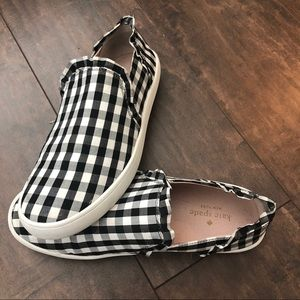 Kate Spade Lily Gingham Slip Ons